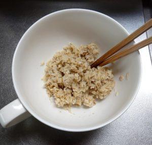 オートミール納豆作り方2
