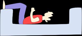 ソファー腹筋のやり方1