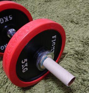 腹筋ローラーをダンベルで代用する方法1