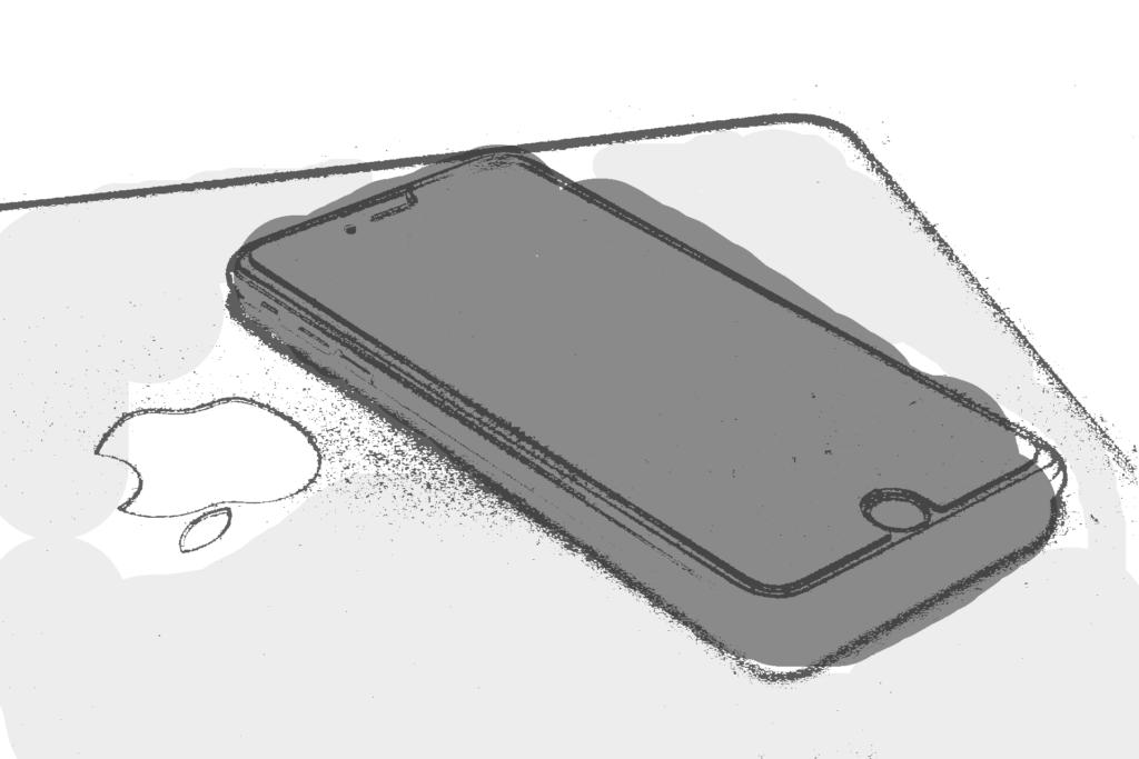 macbookもiphoneもイラスト化