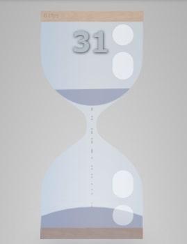 砂時計アプリのアニメーション