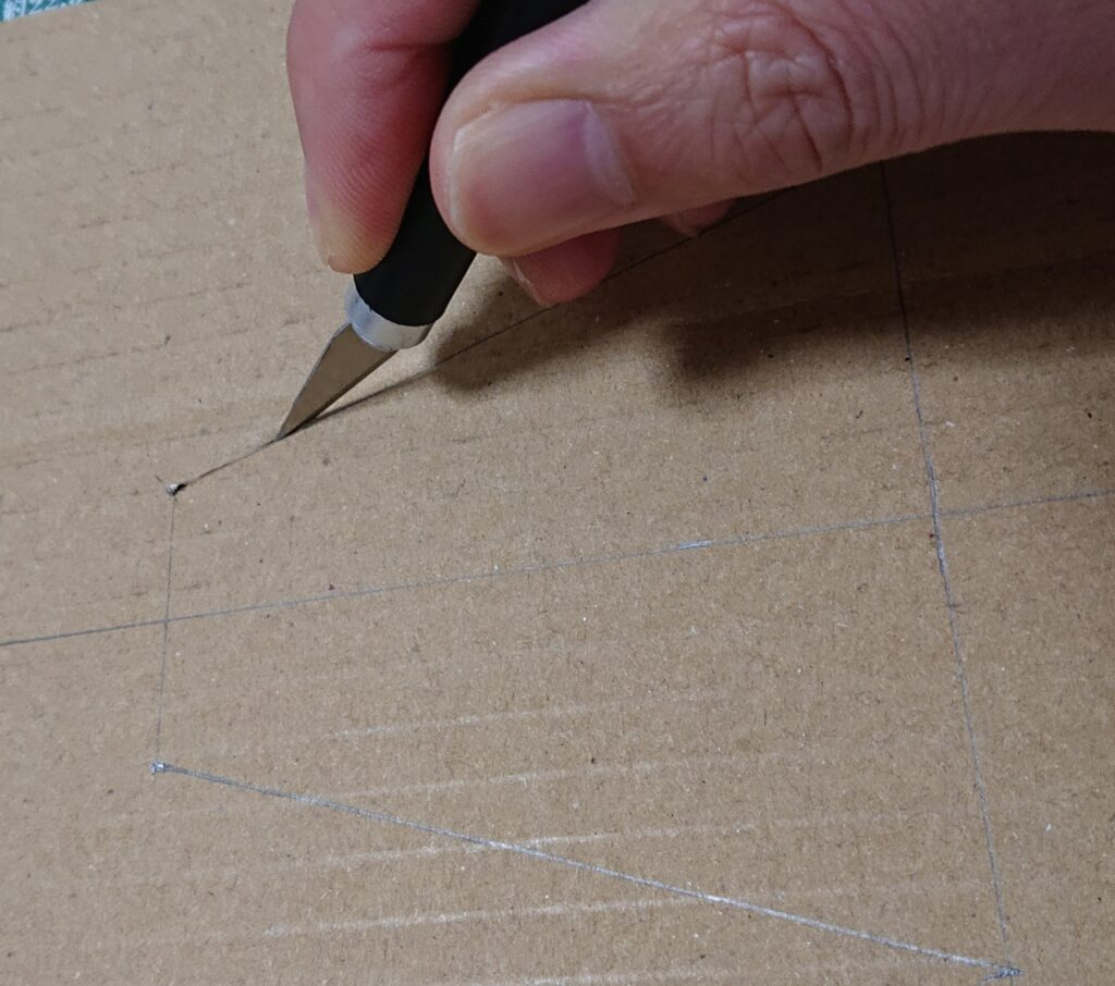 図面太線をカッターで切る