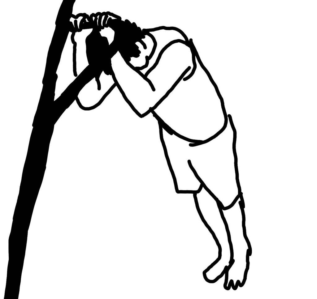 懸垂スタンドで上腕三頭筋外側頭を鍛える方法2