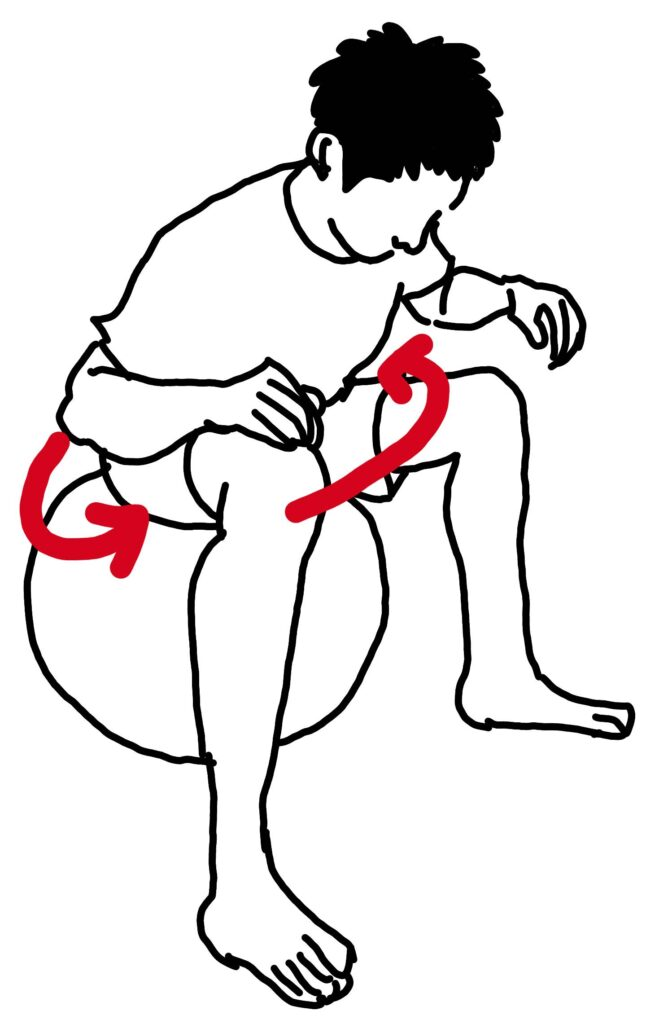 バランスボードで腰痛を改善